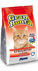 gran bonta gatto croccantini con carne