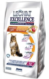 lechat excellence gatto secco croccantini sensitive light