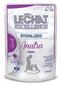 lechat excellence gatto umido bocconcini bocconcini con anatra sterilized