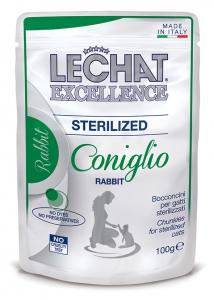 lechat excellence gatto umido bocconcini bocconcini con coniglio sterilized