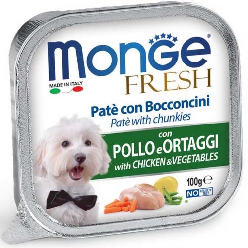 monge_cane_umido_fresh_pate_e_bocconcini_con_pollo_e_ortaggi