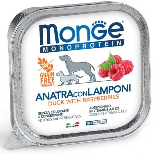 monge_cane_umido_monoproteico_anatra_e_lamponi