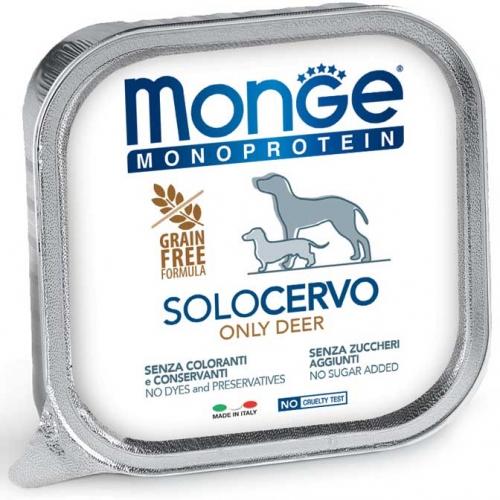 monge_cane_umido_monoproteico_solo_cervo