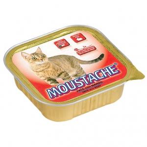 moustache gatto umido pate con manzo