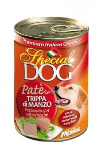 special dog cane umido pate con trippa di manzo