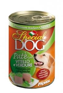 special dog cane umido pate con vitello e verdure