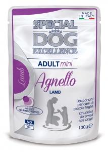 special dog excellence cane umido buste bocconcini con agnello mini adult