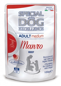 special dog excellence cane umido buste bocconcini con manzo medium adult