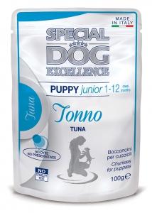 special dog excellence cane umido buste bocconcini con tonno puppy e junior