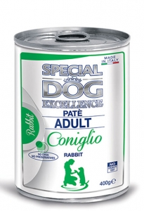 special dog excellence cane umido pate pate con coniglio adult
