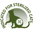 Indicated for sterilized cats