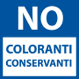 Senza coloranti e conservanti