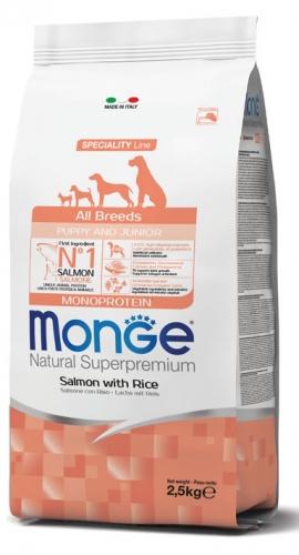 monge_cane_secco_all_breeds_puppy_e_junior_salmone_con_riso