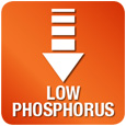 Low in phosphorus - Counteracts renal failure