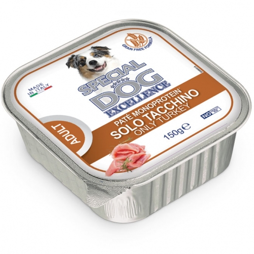 special_dog_excellence_cane_umido_patè_monoprotein_tacchino