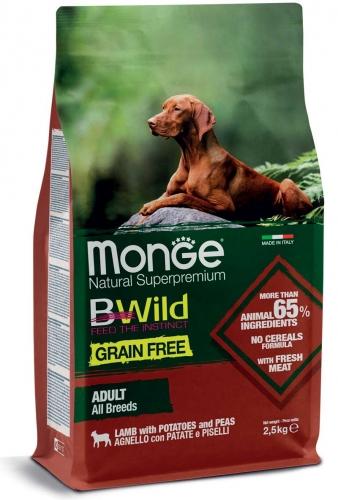 monge_cane_secco_bwild_all_breeds_adult_agnello_con_patate_e_piselli
