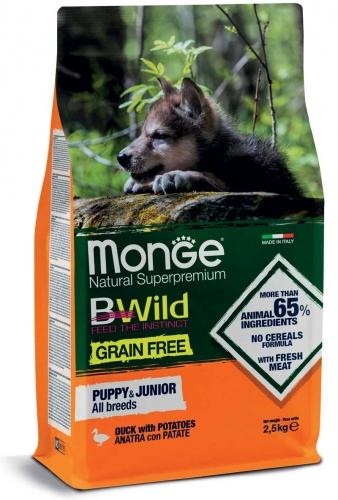 monge_cane_secco_bwild_all_breeds_puppy_e_junior_anatra_con_patate