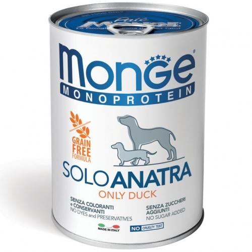 monge_cane_umido_monoproteico_solo_anatra_400g